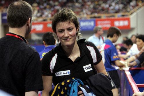 世乒赛女单1 4决赛帕夫洛维奇失望离开