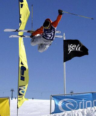 都灵冬奥会项目介绍:滑板滑雪--借助滑板飞向天空