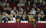 图文-世乒赛女双张怡宁/王楠夺冠领导人到场看球