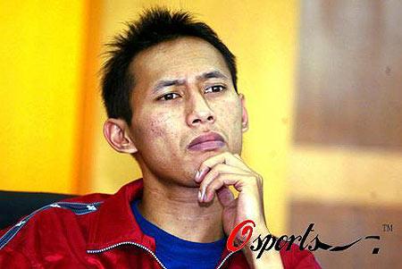 图文-苏迪曼杯印尼队赛前发布会西吉特面露难色