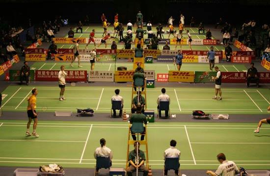 图文-苏迪曼杯羽毛球赛首日赛况杯赛正式打响