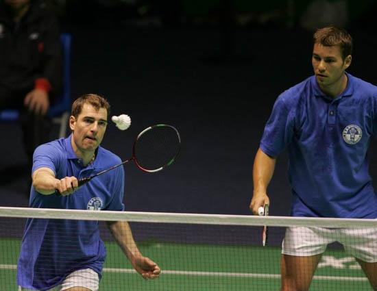 图文-苏迪曼杯羽毛球赛首日赛况意大利男双