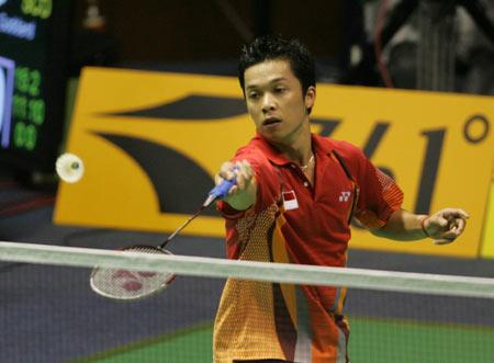 图文-[苏迪曼杯]印尼VS中国香港陶菲克谨慎小心