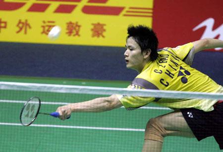 图文-苏迪曼杯中国提前进四强鲍春来网前抢险