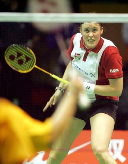 图文-苏迪曼杯羽毛球赛次日丹麦女将咬牙切齿