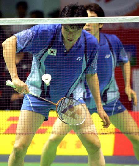 图文-苏迪曼杯羽毛球赛次日韩国男双搭档强力出击
