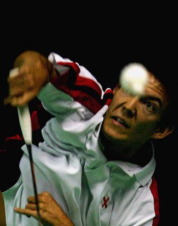 图文-苏迪曼杯羽毛球赛次日基德眼中只有羽毛球