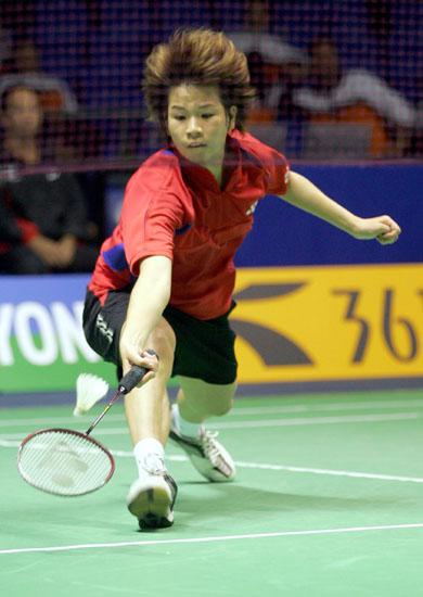 图文-苏迪曼杯羽毛球赛次日赛况网前救到险球