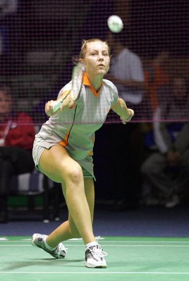 图文-苏迪曼杯羽毛球赛次日赛况荷兰女选手
