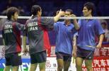 图文-苏迪曼杯第三日激战新加坡男双不敌日本