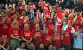 图文-苏迪曼杯第三日花絮丹麦球迷为球队加油