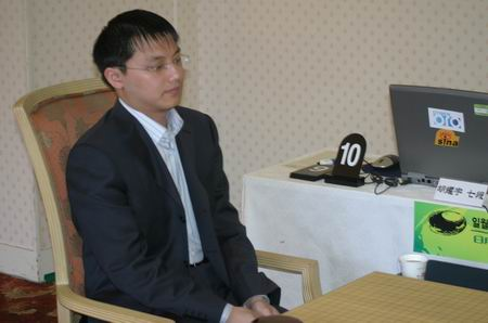 图文-中韩围棋对抗赛第三轮开战胡耀宇心情不错