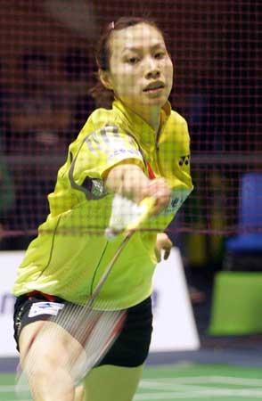 图文-苏迪曼杯中国轻取印尼迅捷谢杏芳跨步迎击