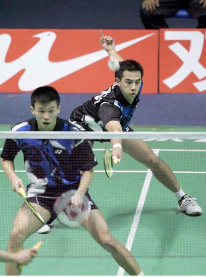 图文-苏迪曼杯英格兰获第五中国香港男双告负
