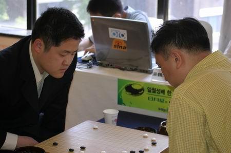 图文-中韩围棋对抗赛第四轮中方失利周鹤洋失手