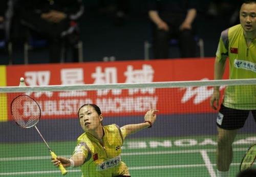 图文-苏迪曼杯半决赛中国VS韩国高��放网前小球