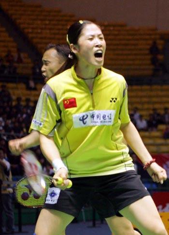 图文-苏杯半决赛中国混双先胜高��怒吼庆祝
