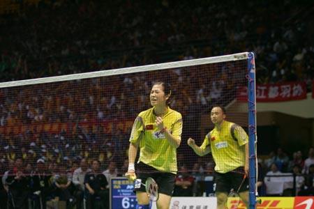 """图文-苏杯决赛中国VS印尼张军高��落""""网""""中"""