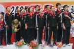 图文-中国击败印尼捧苏迪曼杯队员齐唱国歌