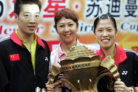 图文-中国击败印尼捧苏迪曼杯陈宏高��幸福时刻