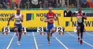 图文-诺里奇联盟田径赛男人之间百米真正较量