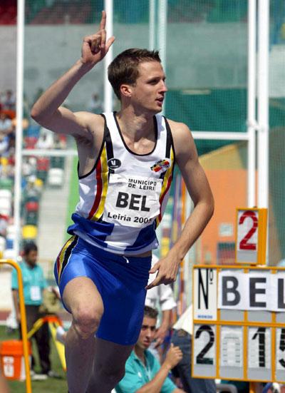 图文-欧洲杯田径赛B组比利时斯特鲁班茨跳高第二