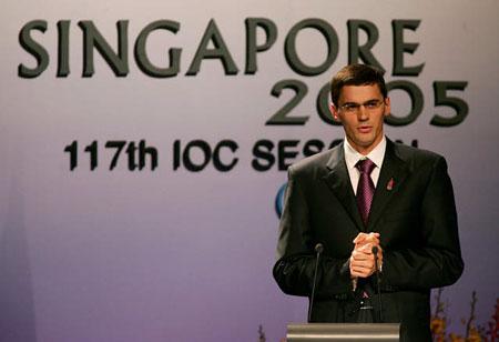 IOC第117次全会波波夫发表莫斯科陈述报告