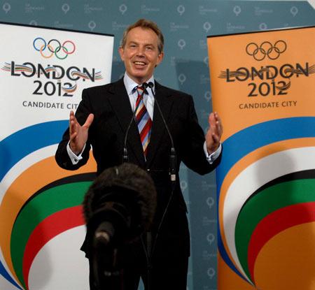 图文-布莱尔祝贺伦敦申奥成功2012年我们伦敦见