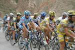 图文-环青海湖赛第八赛段各色骑行衫很花哨