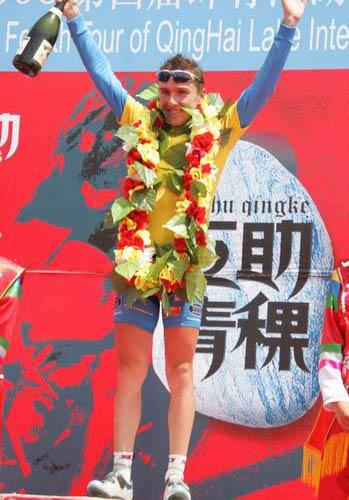 图文-2005环湖自行车赛落幕马里斯完美登顶