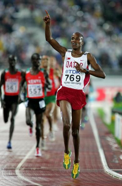 图文-男子3千米障碍赛决赛沙辛庆祝胜利
