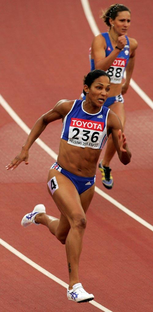 图文-田径世锦赛第五日女200米法国名将阿隆