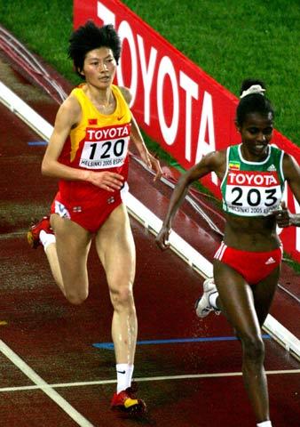 图文-第十届世界田径锦标赛邢慧娜晋级5000米决赛