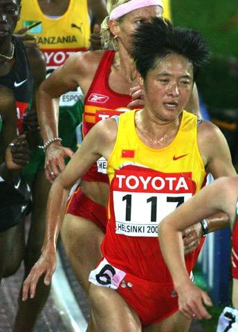 图文-第十届世界田径锦标赛孙英杰晋级5000米决赛