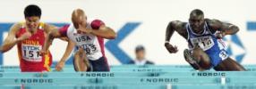 图文-田径世锦赛110米栏赛况史冬鹏全力以赴