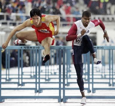 图文-田径世锦赛110米栏赛况刘翔确保晋级决赛