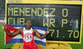 图文-田径世锦赛梅嫩德斯打破女子标枪世界纪录