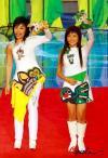 图文-超女助阵奥运吉祥物揭晓向观众展示福娃