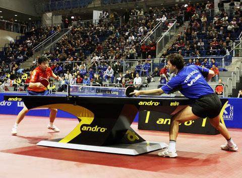 图文-德国乒乓球公开赛小将马龙淘汰波尔进决赛