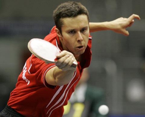 图文-德国乒乓球公开赛萨姆索诺夫晋级决赛