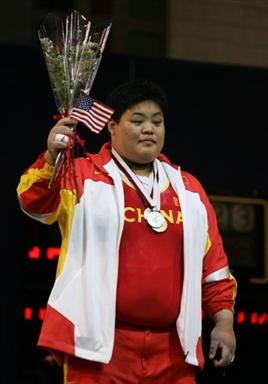 图文-举重世锦赛中国选手摘银穆爽爽夺得银牌