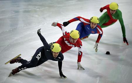 图文-短道速滑世界杯荷兰站阿波罗爆冷无缘半决赛