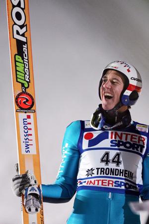 跳台滑雪世界杯挪威站库埃特尔笑傲群雄