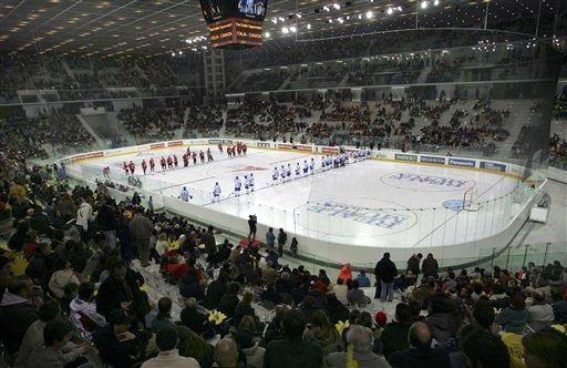 图文-都灵冬奥会场馆掠影帕拉竞技体育馆冰场
