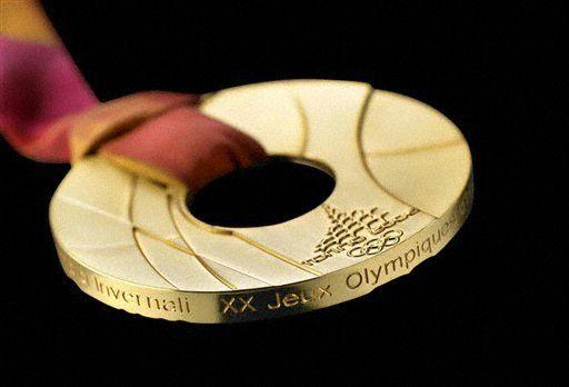 图文-历届冬奥会奖牌一览第20届意大利都灵奖牌