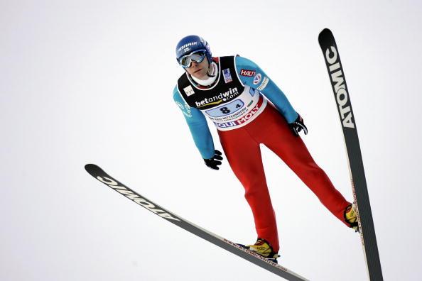 图文-高台滑雪世界杯团体赛落幕芬兰名将阿霍宁