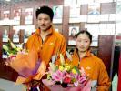 图文-羽毛球冠军上榜仪式张亚雯谢中博登上冠军榜