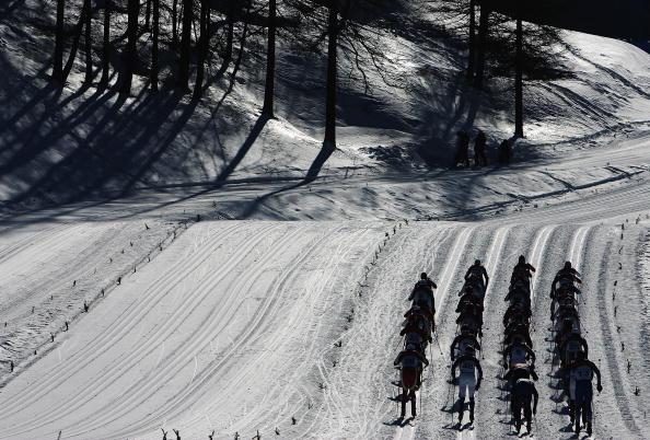 越野滑雪男子30公里追逐赛比的就是耐力