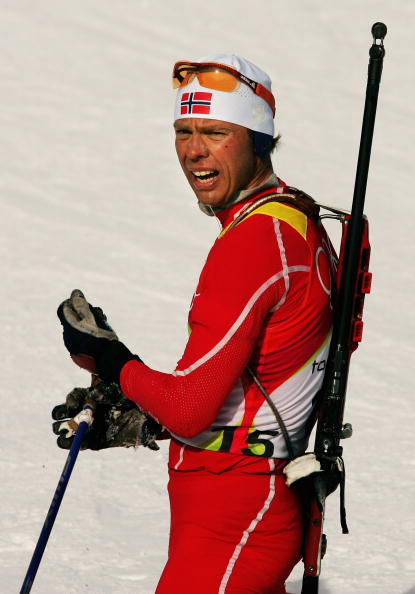 图文-冬季两项男子10公里竞速赛哈内沃尔德夺银