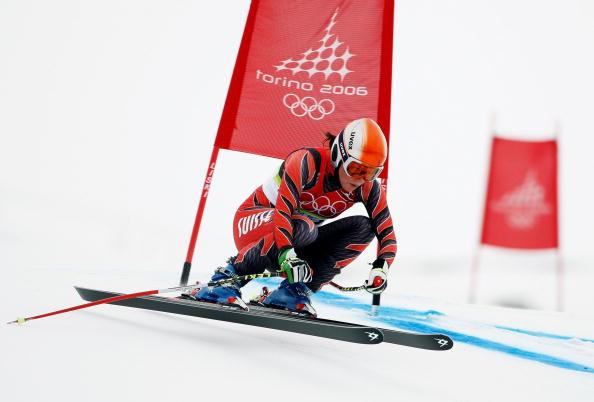 图文-冬奥高山滑雪女子速降赛斯奇�钥焖偻ü�